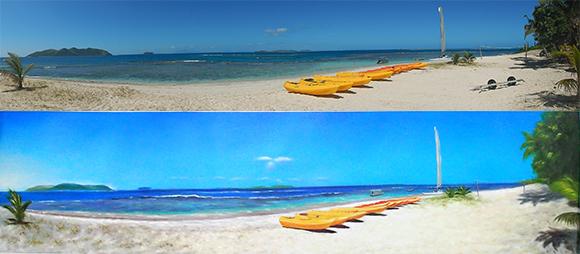 Beach painting, fiji painting